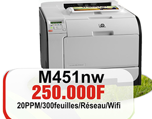 Imprimante lasert couleur HP M451nw